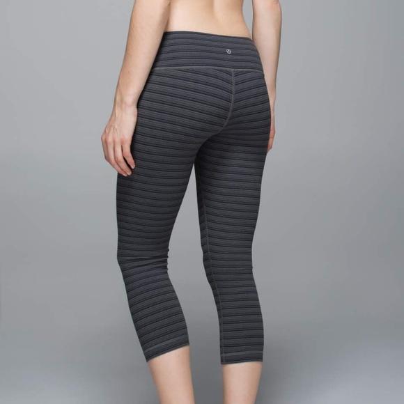 f2cc23ca4 lululemon athletica Pants - Lululemon Wunder Under Crop II Textured Stripe